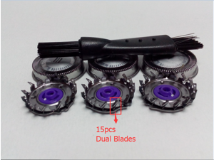 New 3X Shaver Head 15 Dual Blade For Philips HQ6646 HQ6675 HQ5824 HQ6879 HQ5401 HQ5413 HQ5421 HQ5625 HQ5426 HQ5812 HQ5813 HQ5817 HQ5820 HQ5823 HQ300 HQ302 HQ304 HQ320 HQ322 HQ340 HQ342 HQ360 362 Parts