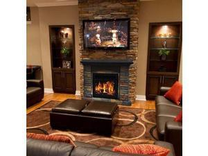 "32"" Electric Fireplace Stone Ledge Realistic Flame 1500 Watt Heater"