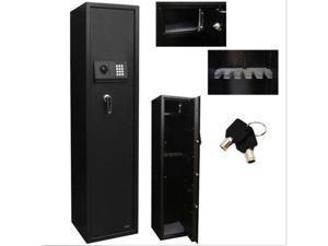 Electronic 5 Gun Rifle Safe Gun Cabinet Secure Lock Firearms digital Lock & Safe