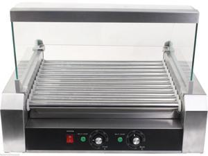 Commercial 30 Hot Dog 11 Roller Grill Cooker Grilling Machine W/ cover CE