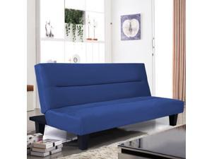 """Microfiber Futon Folding Couch bed 6"""" Sleep Recliner Lounger"""