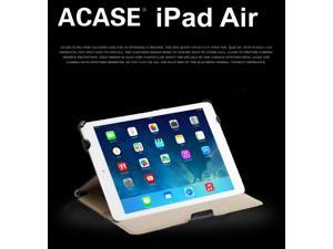 Acase iPad Air Case / Cover [Tiptop Ultra] Slim Leather Case (Apple iPad Air 16gb/32gb/64gb/128gb 10.1 inch Tablet) with Built-in Stand - Support Smart Cover Function for iPad Air