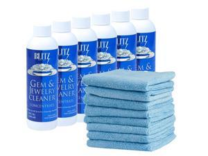 12 Pack - (8oz) Blitz Concentrated Jewelry Cleaning Solution - Ideal for Use ...
