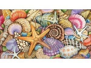 Toland Home Garden Shells of the Sea 20 x 38-Inch Decorative USA-Produced Anti-Fatigue Standing Desk Comfort Designer M