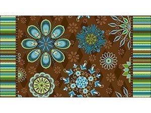 Toland Home Garden Floral Spice 20 x 38-Inch Decorative USA-Produced Anti-Fatigue Standing Desk Comfort Designer Mat