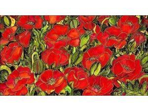 Toland Home Garden Red Poppies 20 x 38-Inch Decorative USA-Produced Anti-Fatigue Standing Desk Comfort Designer Mat