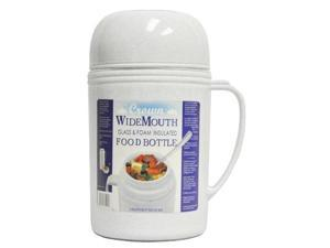 Brentwood RAZ05 Wide Mouth Glass Vacuum/Foam Insulated Food Thermos, 0.5-Liter