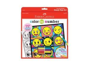 Color by Number Emoji pop Art