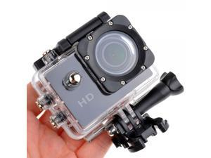 Koolulul 1080p 12MP Wide-Angle Sport Video Camera with Waterproof Case