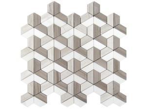 Sample of 12x12 Dimensions 3D Block Mosaic