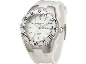 Jorg Gray JG5300-11 Men's Watch - Round White Dial White Band Stainless Accents