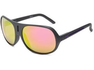 Spy Optic Stratos II Oversized Sunglasses,Matte Grey Frame/Grey with Multi Layered Pink Lens,One size