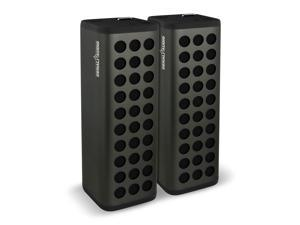 Denali Audio Wireless Bluetooth Dual Stereo Pairing Speakers, Large, Black