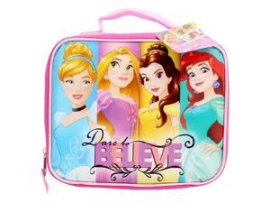 Disney Princesses - Dare to Believe Childrens Kids Boys Girls Insulated Lunch Pack School Lunch Box Picnic Bag