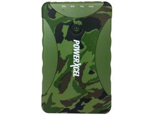 PowerXcel 10,000 mAh Dual-USB Water-Resistant Power Bank Charger, Camo