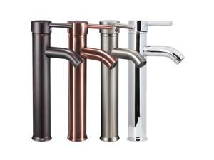 FREUER Acqua Collection: Vessel Bathroom Sink Faucet, Brushed Nickel