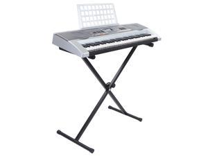 Hamzer 61 Key Electronic Piano Electric Organ Keyboard with Stand & USB MP3 Playback - Silver