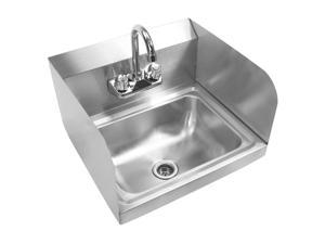 Gridmann Commercial NSF Stainless Steel Sink with Faucet & Sidesplashes -  Wall Mount Hand Washing Basin?
