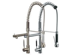 FREUER Professionista Collection: Pull Down Spray Kitchen Sink Faucet, Brushed Nickel