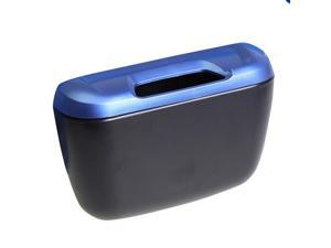 Mini Auto Car Vehicle Garbage Dust Case Holder Box Bin Trash Rubbish Can(Blue)