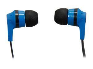 Skullcandy Blue/ Black S2IKDY-101 3.5mm Connector Ink'd 2.0 Earbud Headphones with Mic, Blue/ Black