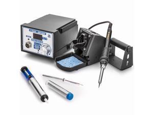 X-Tronic Model #4010-XR3 60 Watt Digital Display Soldering Station - C/F - ESD Safe - PID Technology - Deluxe Iron Stand w/Solder Holder, Tube of SN60/PB40 Solder, Solder Sucker Pen & Extra Element