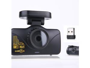 Lukas Lk-7950 WD FHD & FHD Wi-Fi Smart 2ch Dash Cam with GPS (8GB+32GB=40GB)