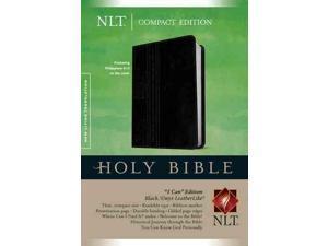 """Holy Bible: New Living Translation, Black/Onyx, Leatherlike. """"I Can"""" Edition"""