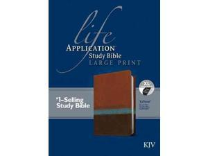 Life Application Study Bible: King James Version, Brown/Tan/Heather Blue, Leatherlike