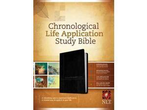 Chronological Life Application Study Bible: New Living Translation, Black/Onyx Leatherlike
