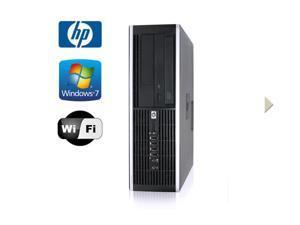 HP 8000 Elite SFF Desktop - Intel Core 2 Quad 2.13GHz - 500GB HDD - 4GB RAM - Windows 7 Pro 32-Bit - WiFi - DVD-RW