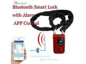 Bluetooth Smart Lock with Alarm Bicycle Smart Lock Bicycle/Motorcycle Keyless Lock APP Control