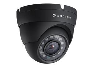 Amcrest ProHD Outdoor 1080P POE Dome IP Security Camera - IP67 Weatherproof, 1080P (1920 TVL), IP2M-844E (Black)