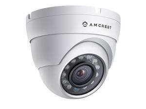 Amcrest ProHD Outdoor 1080P POE Dome IP Security Camera - IP67 Weatherproof, 1080P (1920 TVL), IP2M-844E (White)