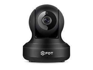 FDT 720P HD WiFi Pan/Tilt IP Camera (1.0 Megapixel) Indoor Wireless Security Camera FD7901 (Black), Plug & Play, Two-Way Audio & Nightvision