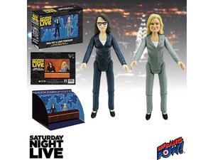 Saturday Night Live Weekend Update Tina Fey and Amy Poehler 3 1/2-Inch Action Figures Set of 2