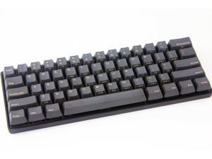 Mechanical Keyboard - KBC Poker 3 - Black Case - PBT Keycaps - Cherry Mx-Brown [Metal Casing]