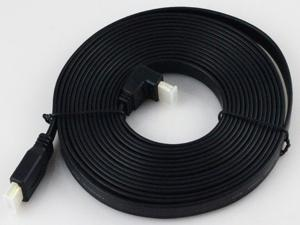 THG W-AO2HDTOHD50M05BK 5m V1.4 Flat HDMI Cable M/M For BLURAY 3D DVD PS3 HDTV XBOX 360 Black