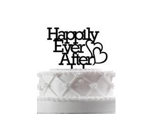 "Wedding Cake Topper, ""Happily Ever After"" Wedding Cake Topper Anniversary Cupcake Stand"