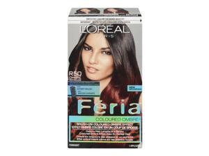 Feria Brush-on Ombre Effect Hair Color, R50 Ombre Red (Packaging May Vary)