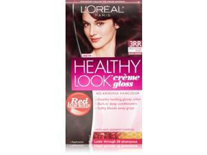 3 Pk, L'Oreal Paris Healthy Look Creme Gloss, Vibrant Darkest Auburn / Black Currant #3RR
