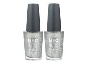 NYC In A New York Color Minute Nail Polish #292 Tribeca Silver (Pack of 2)