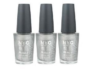 NYC In A New York Color Minute Nail Polish #292 Tribeca Silver (3 Packs)