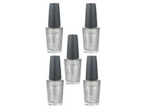 NYC In A New York Color Minute Nail Polish #292 Tribeca Silver (5 Packs)