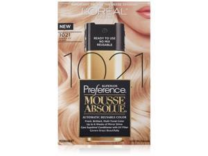 L'Oreal Paris Superior Preference Mousse Absolue, 1021 Lightest Icy Blonde (4 packs)