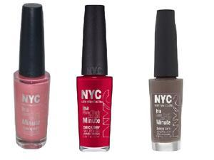 New York Color In A New York Color Minute Quick Dry Nail Polish 3 Elegant Pack