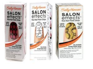 SALLY HANSEN Salon Effects Real Nail Polish Strips 3 Angelic Pack