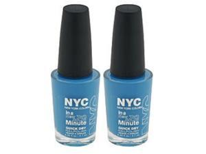 (2 Pack) NYC New York Color In A Minute Quick Dry 296 Wallstreet Blue