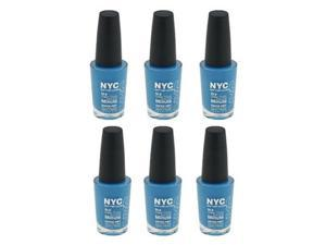 (6 Pack) NYC New York Color In A Minute Quick Dry 296 Wallstreet Blue