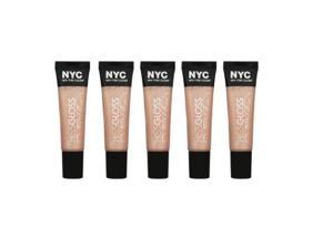 (4 Pack) NYC New York Color Kiss Gloss 529 Sugar Hill Shimmer Peach Color